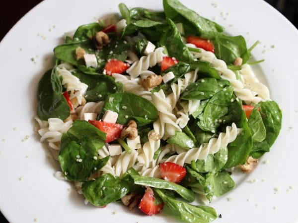 Strawberry Feta Pasta