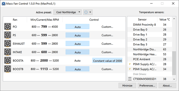 CrystalIDEA Macs Fan Control