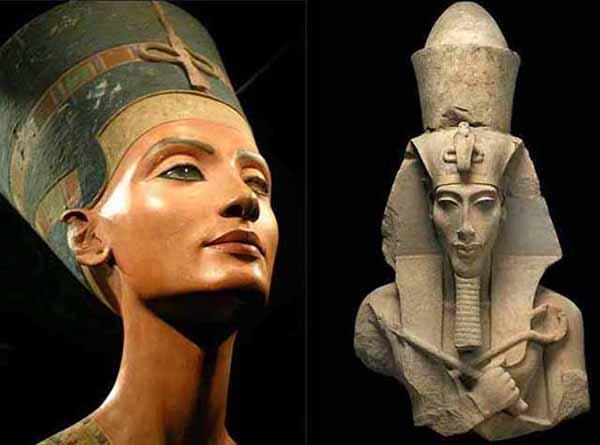 Image result for Pharaoh Akhenaten and Queen Nefertiti