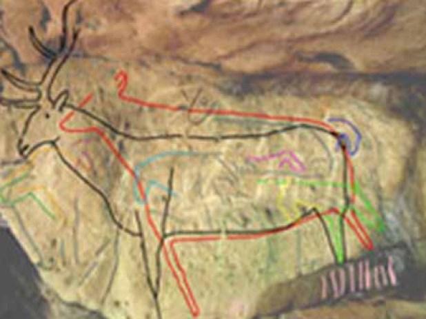 Bức vẽ trên đá 12.800 năm tuổi Rockart405