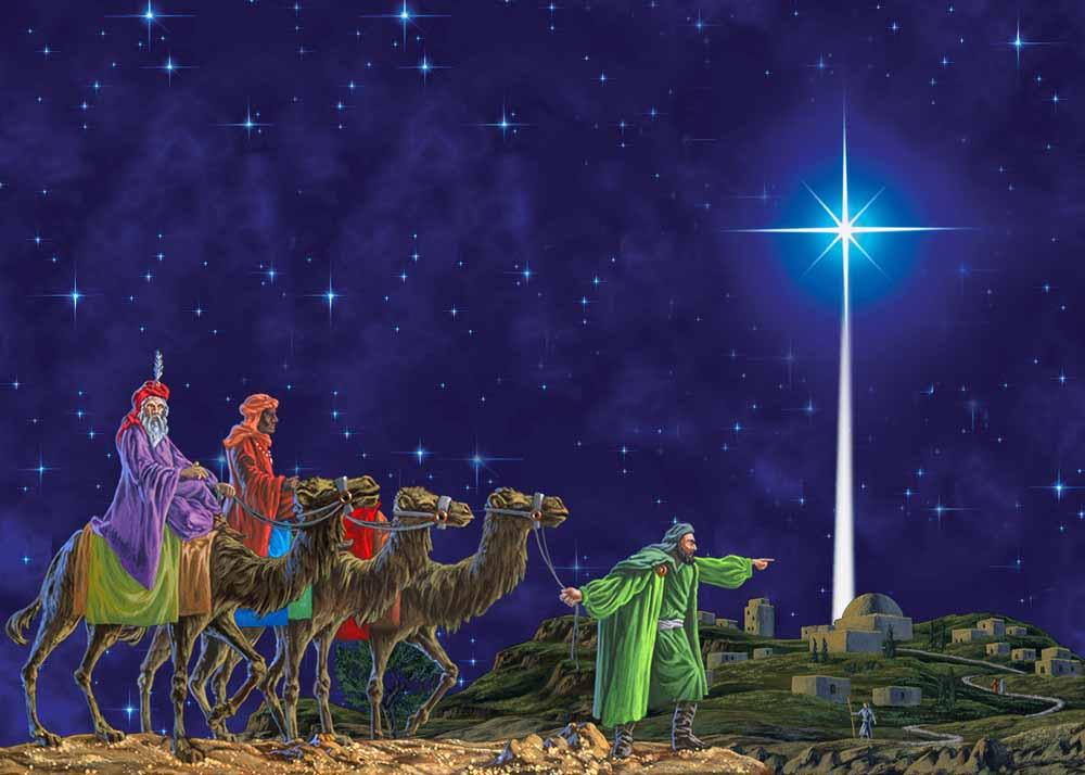 Image result for epiphany, three wise men, star, art, pictures