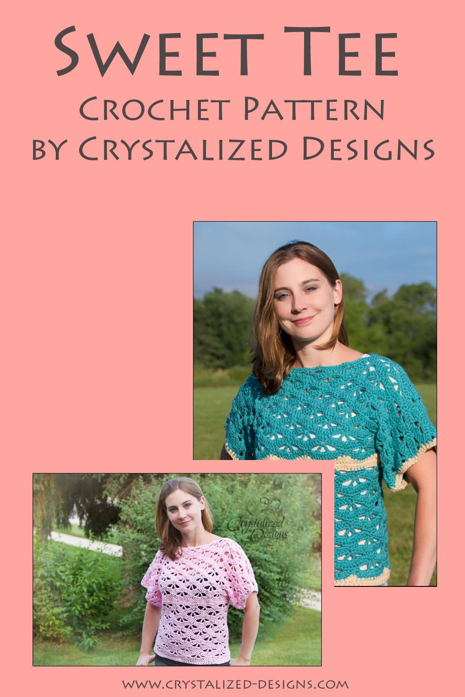 Sweet Tee Crochet Pattern by Crystalized Designs