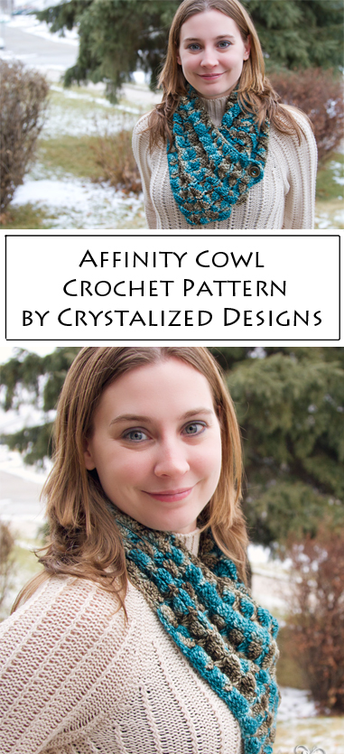 Affinity Cowl Crochet Pattern by Crystalized Designs