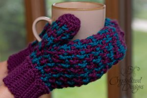 Ribbed Mittens Crochet Pattern