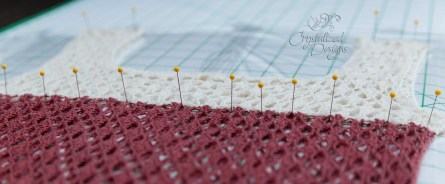 Wet Blocking: Pinning Into Place