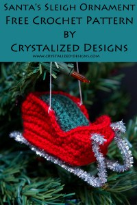 Santas Sleigh Ornament Free Crochet Pattern by Crystalized Designs