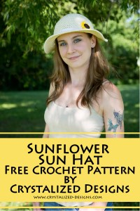 Sunflower Sun Hat Free Crochet Pattern by Crystalized Designs