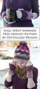 Shell Wrist Warmers Free Crochet Pattern by Crystalized Designs