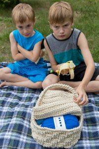 Picnic Basket Free Crochet Pattern by Crystalized Designs