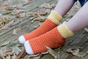 Candy Corn Socks Crochet Pattern by Crystalized Designs