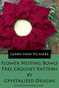 Flower Nesting Bowls Free Crochet Pattern by Crystalized Designs