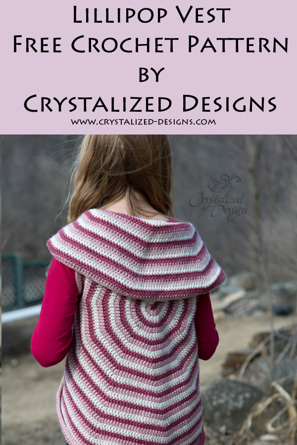 Lollipop Vest Crochet Pattern by Crystalized Designs