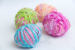 Decorative Yarn Balls Tutorial by Crystalized Designs