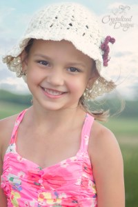 Fairy Lace Sun Hat by Crystalized Designs