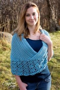 Cross my heart Ponchette Crochet Pattern by Crystalized Designs