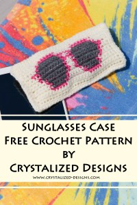 Sunglasses Case Free Crochet Pattern by Crystalized Designs