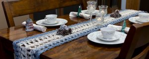 Hairpin Lace Table Runner Free Crochet A Long Free Pattern by Crystalized Designs