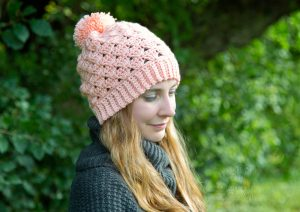 Nancy Beanie Free Crochet Pattern by Crystalized Designs for Uterine Cancer Awareness