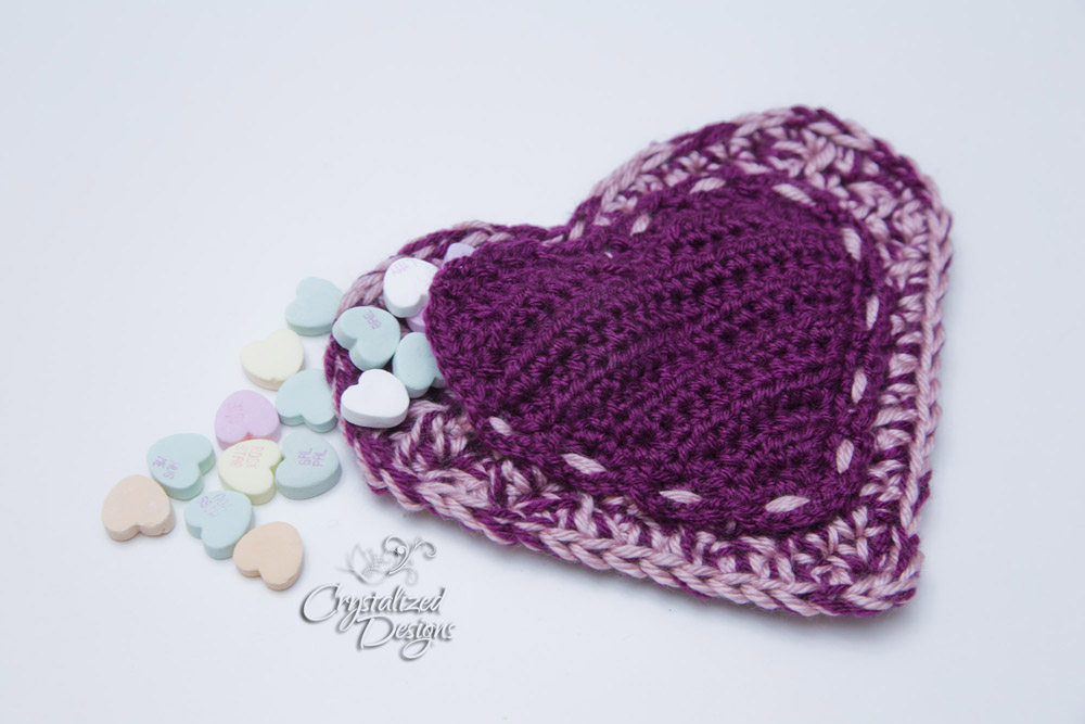 Heart Pocket Stash Buster Crochet Pattern