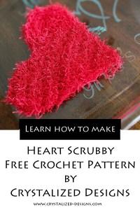 Heart Scrubby Free Crochet Pattern by Crystalized Designs