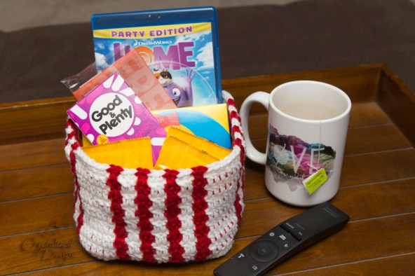 Movie Night Treat Basket Crochet Pattern