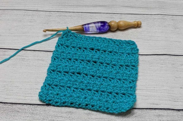 Double Crochet Cluster Swatch