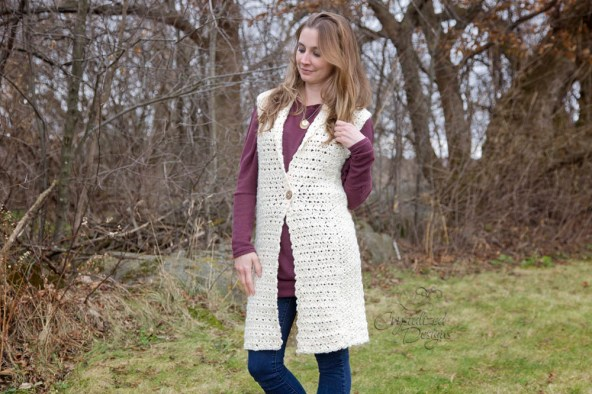 Juniper Vest Crochet Pattern by Crystalized Designs