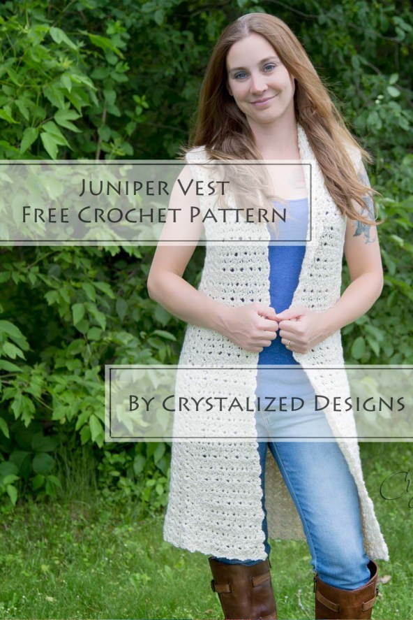 Juniper Vest Free Crochet Pattern by Crystalized Designs