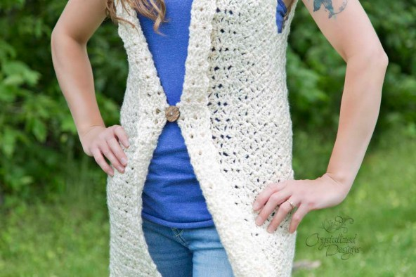 Juniper vest crochet pattern crystalized designs