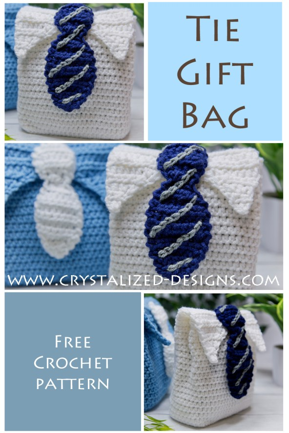 Tie Gift Bag Free Crochet Pattern by Crystalized Designs