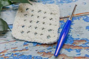 Granny Diamond Coaster Crochet Pattern