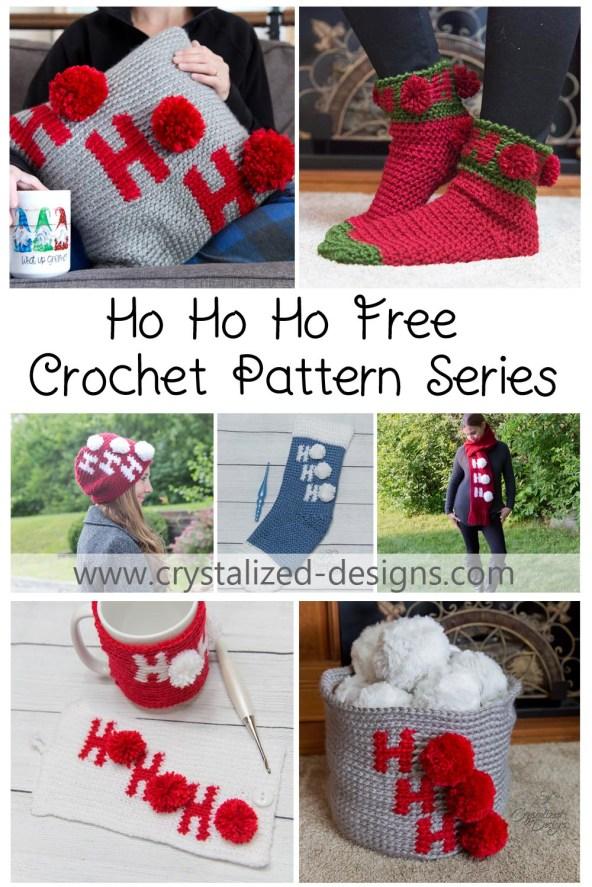 Ho Ho Ho Free Crochet Pattern Series by Crystalized Designs