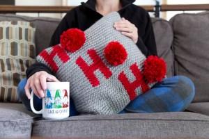 Ho Ho Ho Pillow Cover Crochet Pattern