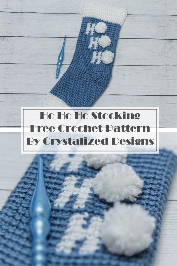 Ho Ho Ho Stocking Free Crochet Pattern by Crystalized Designs