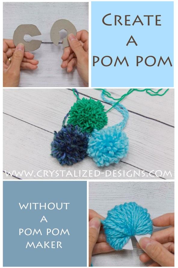 Make a Pom Pom Tutorial by Crystalized Designs 15