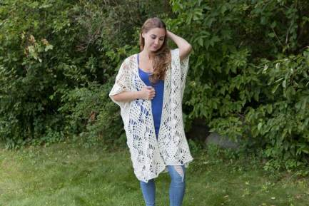 Crystalized Boho Cardigan Free Crochet Pattern