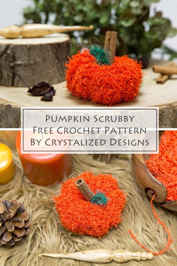 Pumpkin Scrubby Free Crochet Pattern by Crystalized Designs