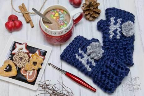 Ho Ho Ho Wrist Warmers Crochet Pattern