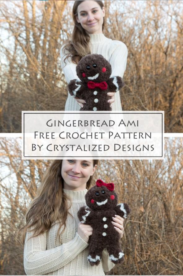 Gingerbread Amigurumi Free Crochet Pattern by Crystalized Designs
