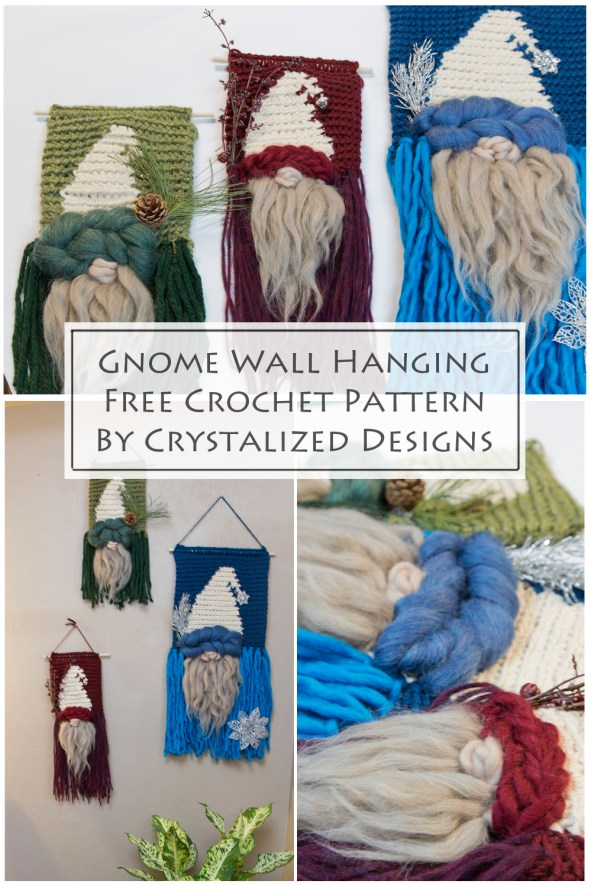 Gnome Wall Hanging Free Crochet Pattern by Crystalized Designs
