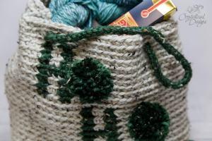 Ho Ho Ho Large Tote Bag Free Crochet Pattern