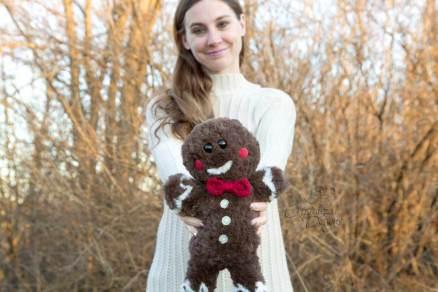 Jaden the Gingerbread Amigurumi Free Crochet Pattern