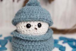 Snowman Scrap Busting Crochet Pattern