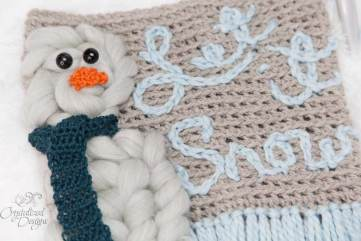 Snowman Wall Hanging Crochet Pattern by Crystalized Designs