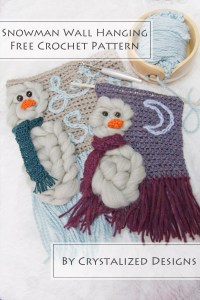 Snowman Wall Hanging Free Crochet Pattern by Crystalized Designs