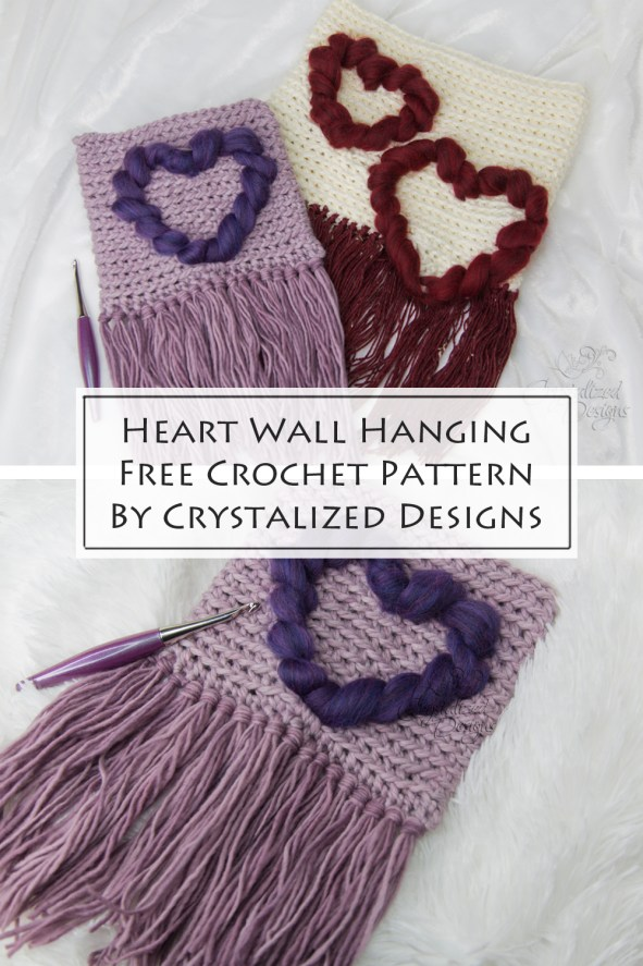 Heart Wall Hanging Free Crochet Pattern by Crystalized Designs