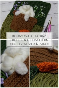 Bunny Wall Hanging Free Crochet Pattern by Crystalized Designs