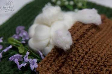 Bunny Wall hanging foot crochet pattern