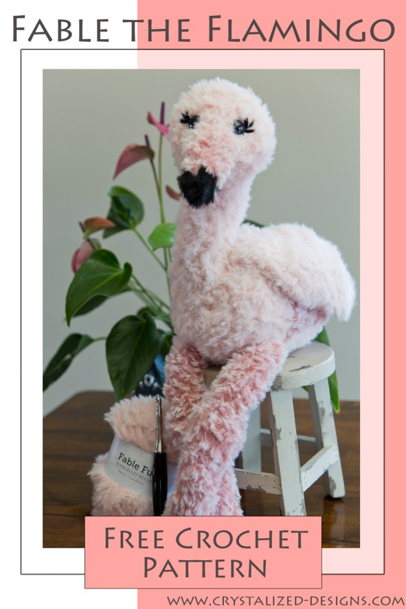 Fable the Flamingo Free Crochet Pattern by Crystalized Designs