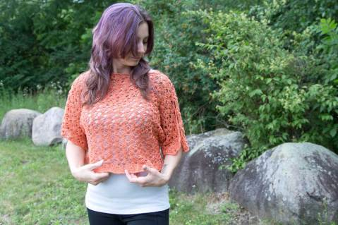 Crop Top Crochet Pattern by Crystalized Designs